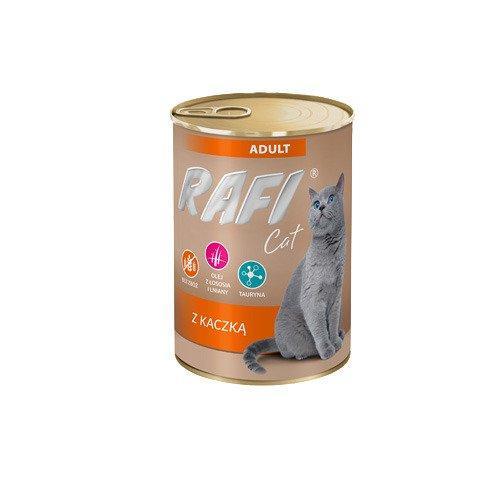 Mokra karma dla kota Rafi Cat Adult z kaczka