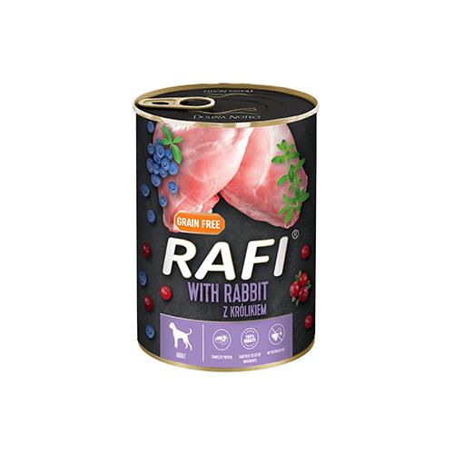 Mokra karma dla psa Rafi z krolikiem